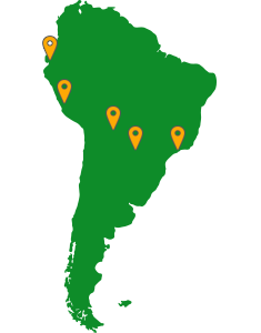 Moor Instruments Distribution Map - South America